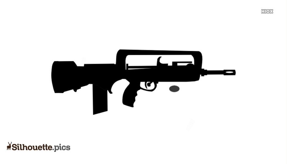 Famas Gun Clip Art Silhouette