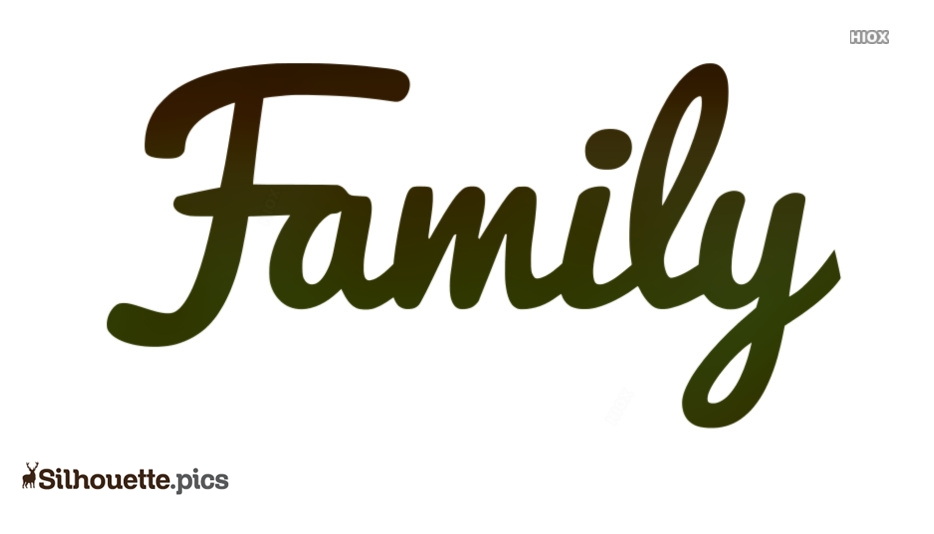 Family Font Silhouette