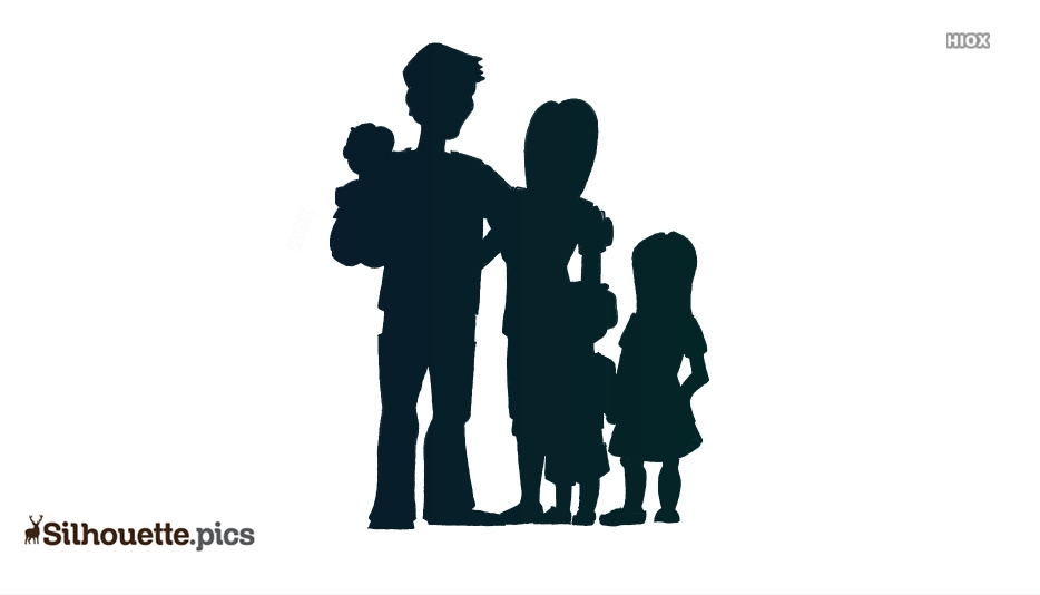 Family Vector Silhouette Image