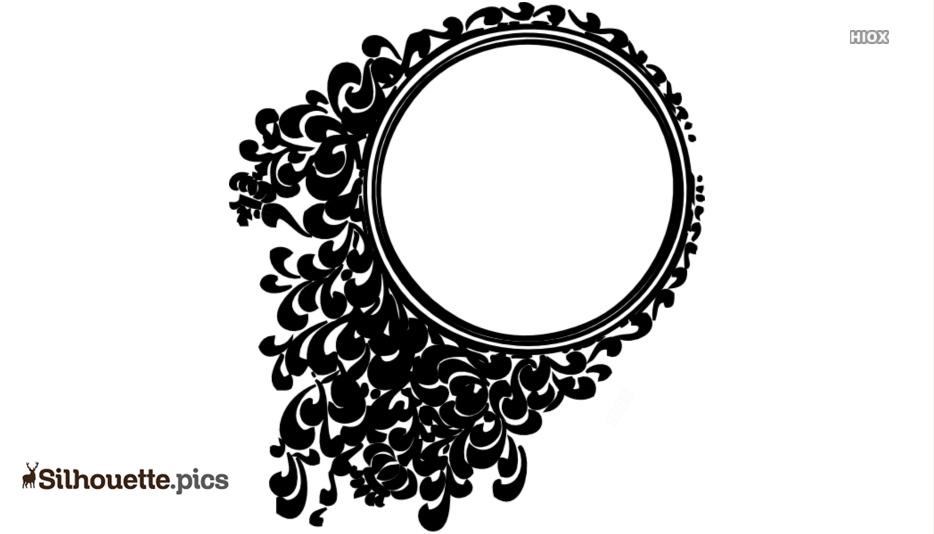 Fancy Cartoon Oval Frame Silhouette