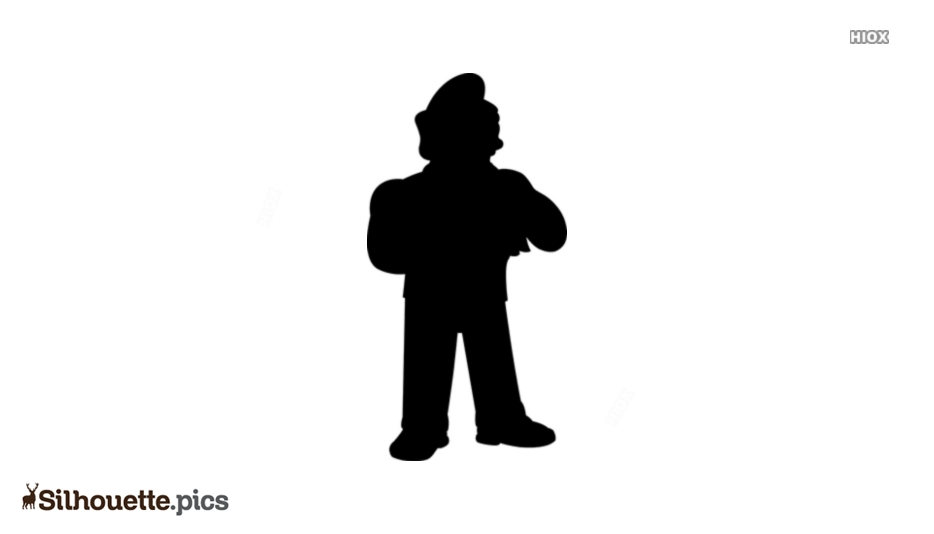 Fat Tony Silhouette Clipart