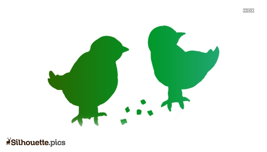 Feed Birds Cartoon Silhouette Icon