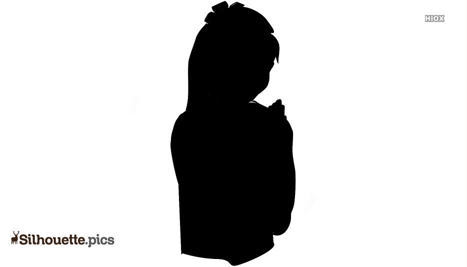Female Praying Vector Silhouette