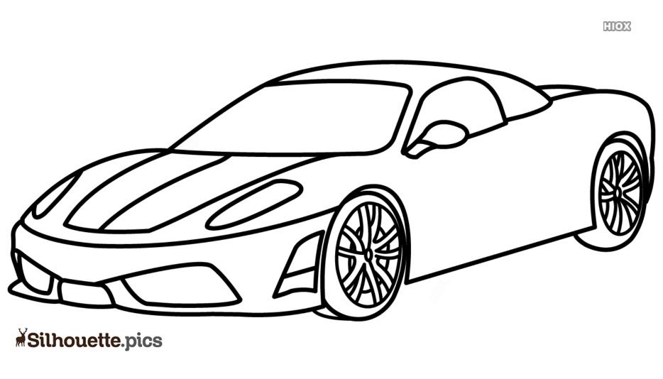 Ferrari Drawings Silhouette Free Vector Art