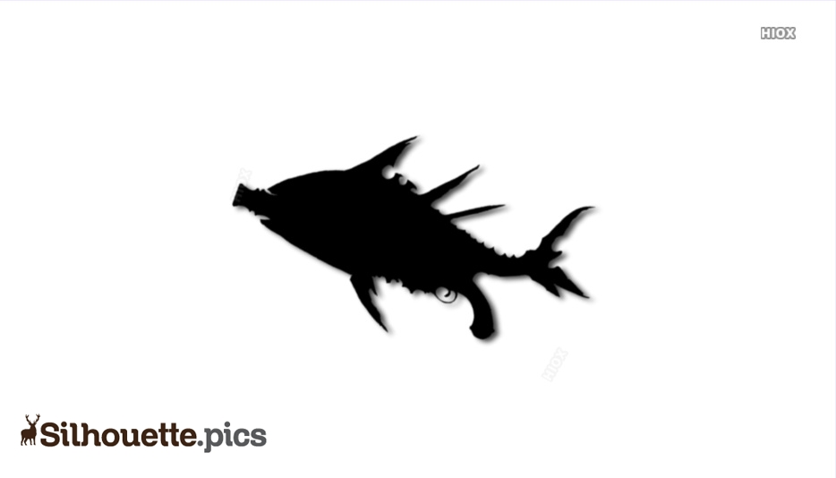 Fish Weapon Silhouette Image