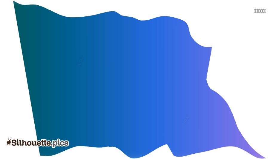 Flag Waving Vector Silhouette