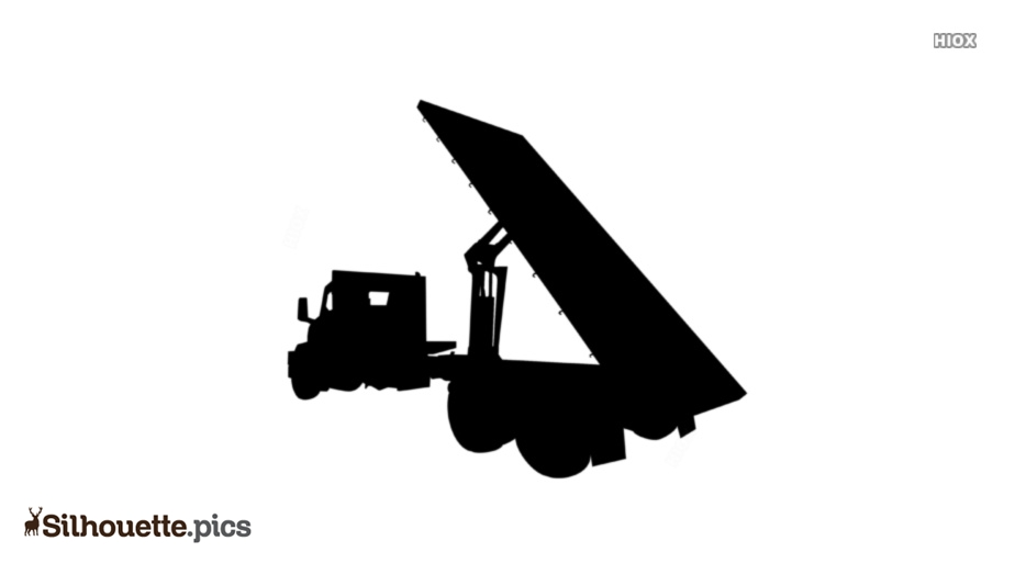 Flatbed Truck Silhouette Vector And Graphics