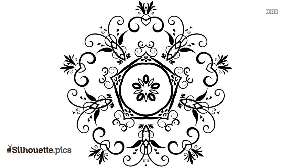 Floral Design Outline Vector
