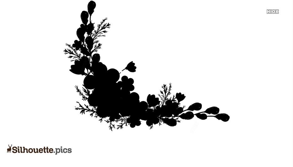 Flower Border Silhouette Free Vector Art