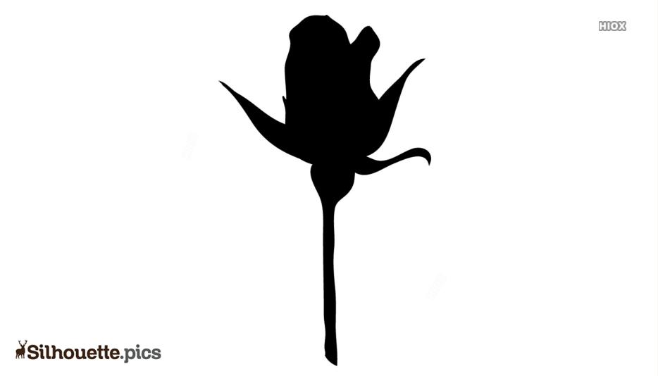 Flower Bud Silhouette Clip Art