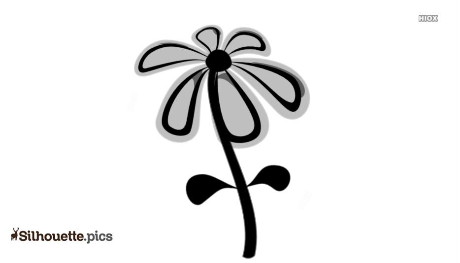 Flower Cartoon Vector Silhouette