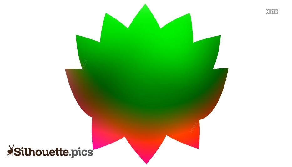 Flower Chinese Lotus Silhouette