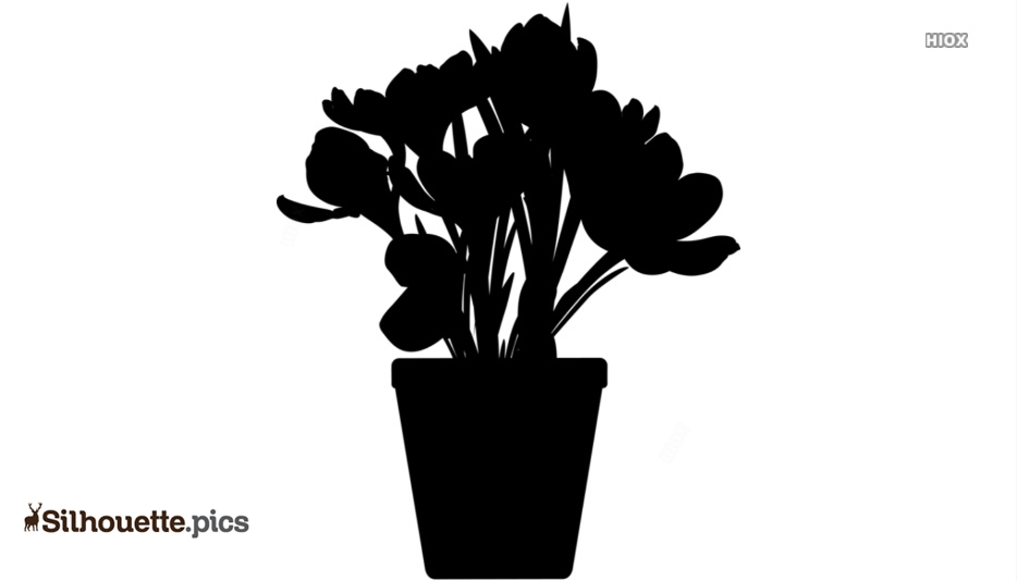 Flower Pot Clipart Silhouette
