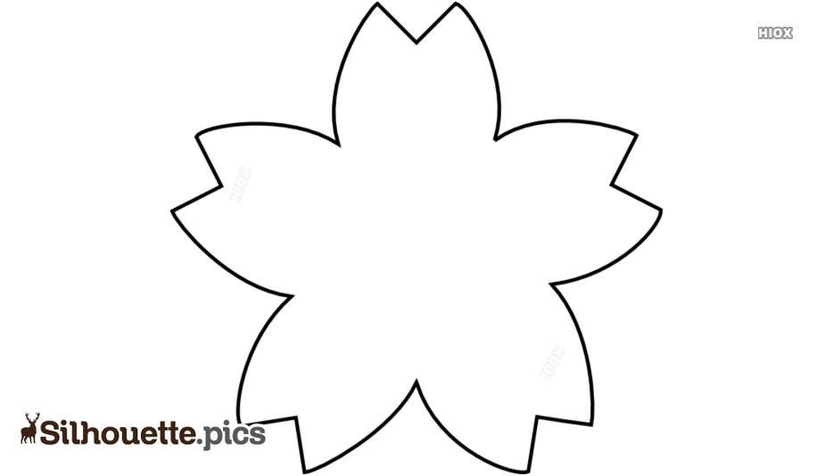 Flower Shape Outline Silhouette