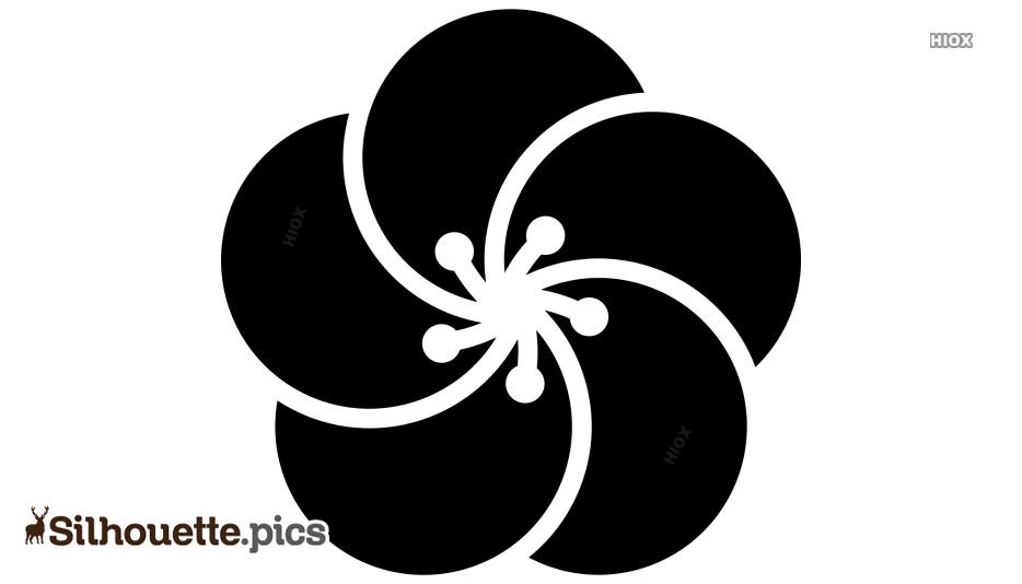 Flower Shape Silhouette