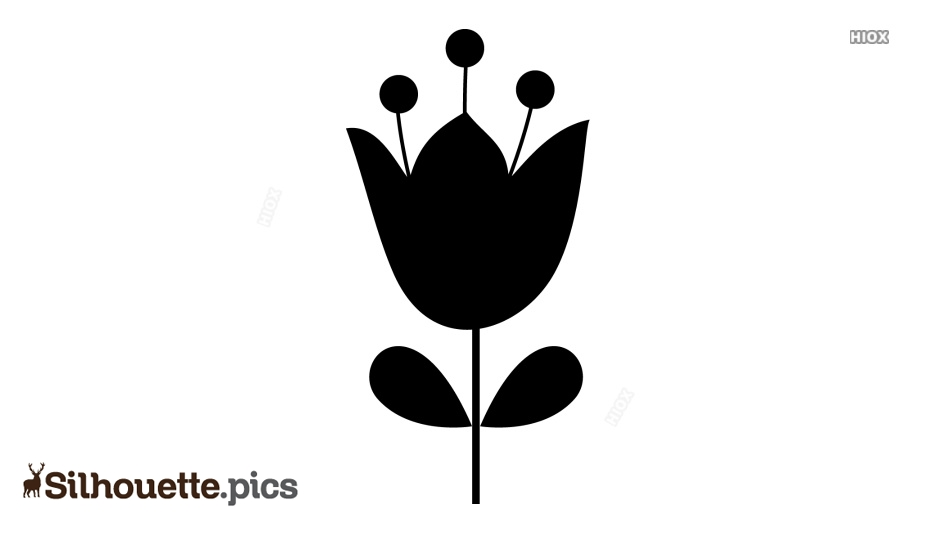 Flower Silhouette Drawing