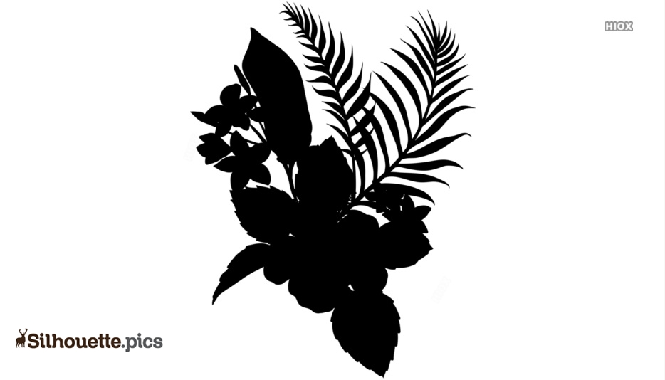 Flowers Tattoo Silhouette Drawing, Hibiscus Clipart Image