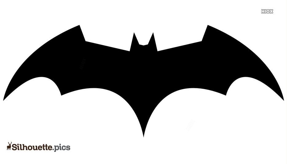 Flying Bat Logo Silhouette For Download