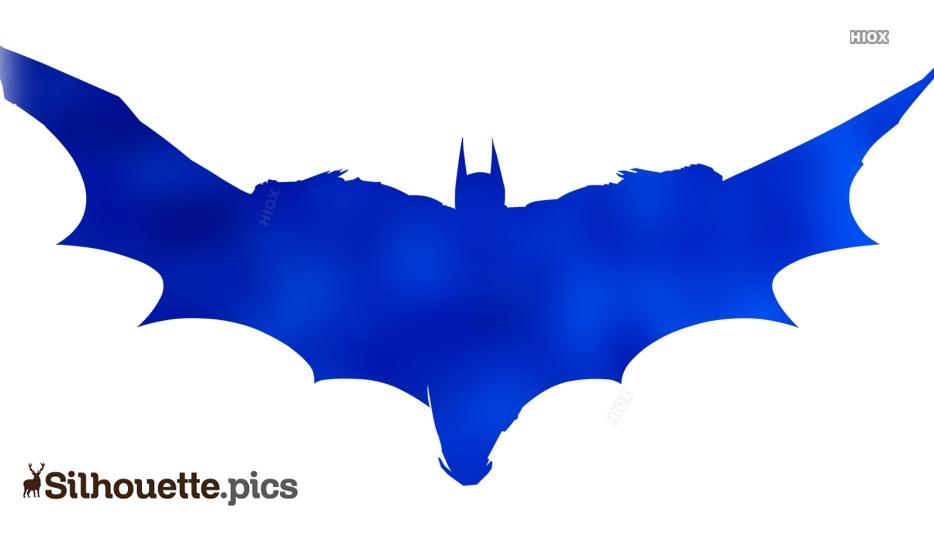 Flying Bat Silhouette Image