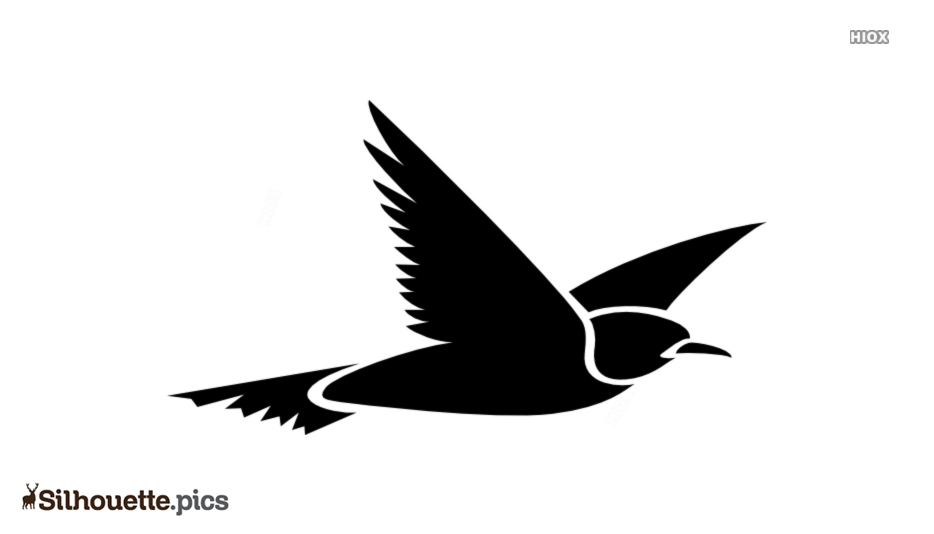 Flying Bird Silhouette Background Image