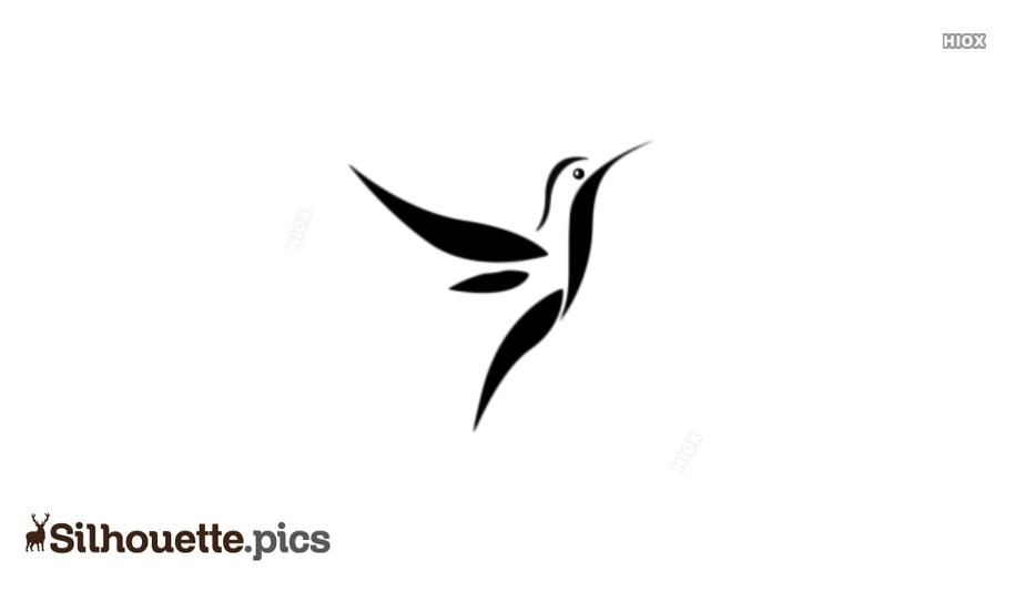 Flying Kingfisher Bird Silhouette Image