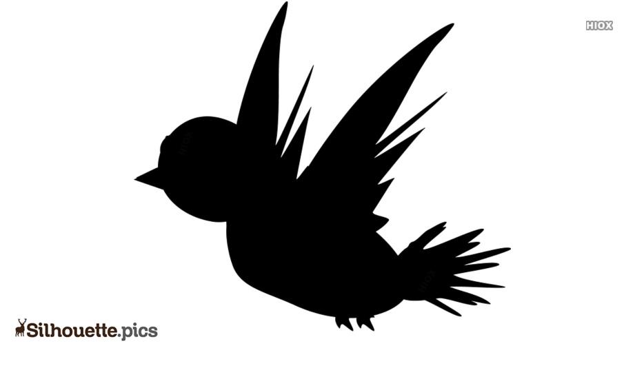 Flying Birds Silhouette Clip Art Illustration