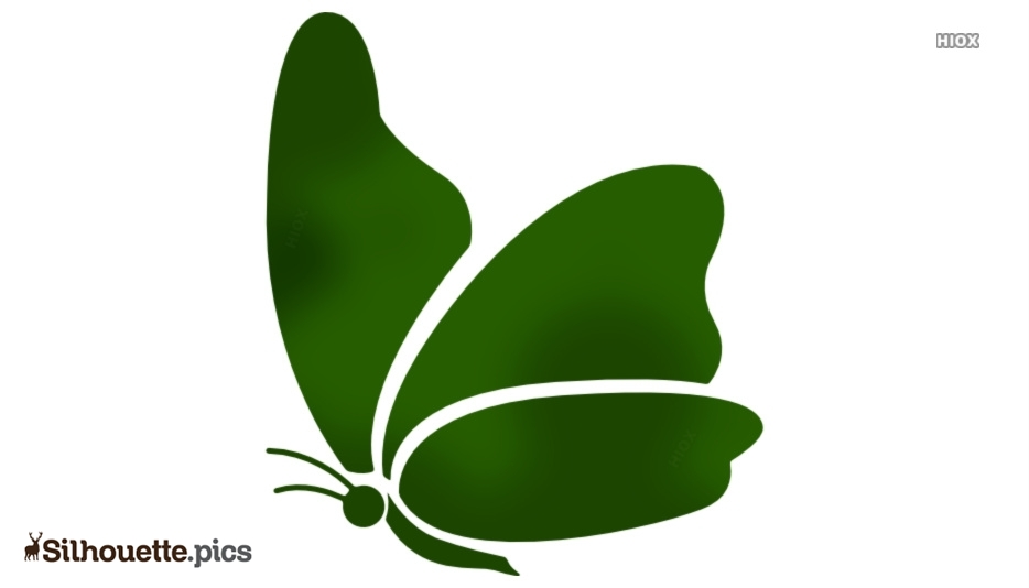 Flying Butterfly Silhouette Vector, Illustration