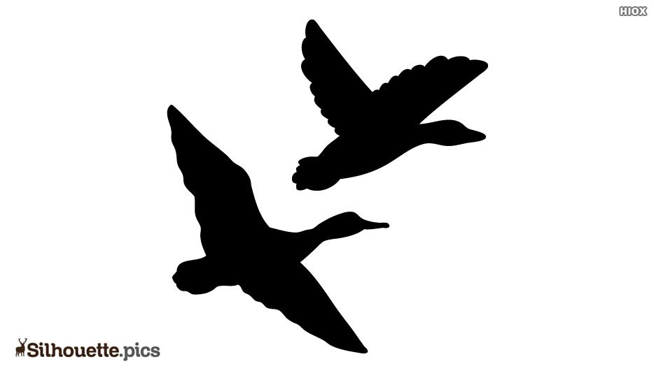 Flying Ducks Silhouette