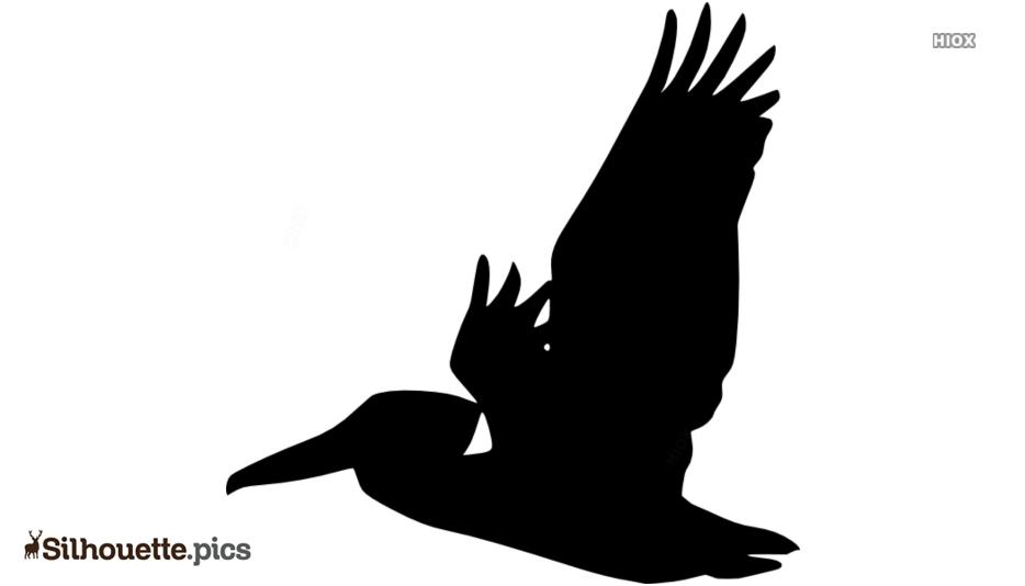Flying Pelican Silhouette Free Vector Art