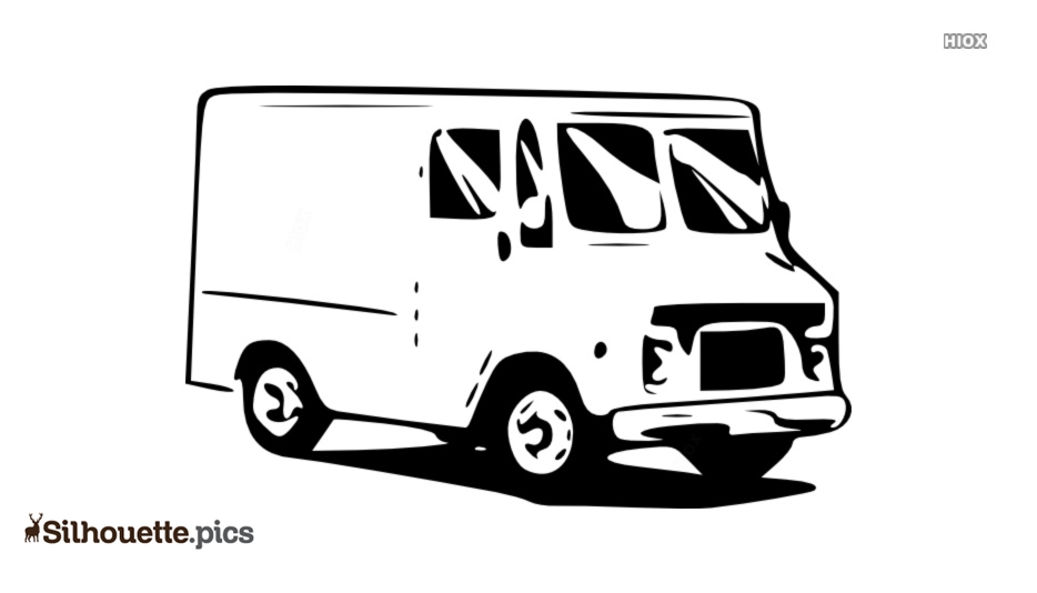 Food Truck Drawing Silhouette