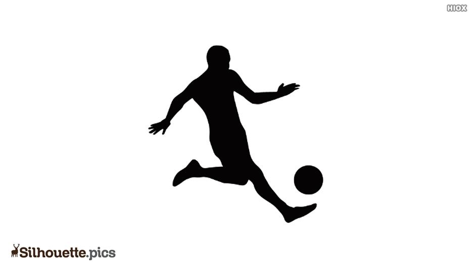 Football Player Kicking Ball Silhouette