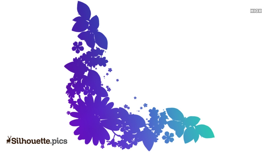 Forget Me Not Flowers Silhouette Icon