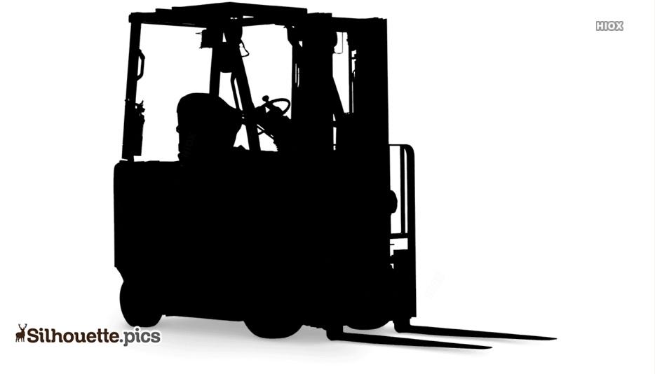 Fork Lift Cartoon Silhouette Clipart