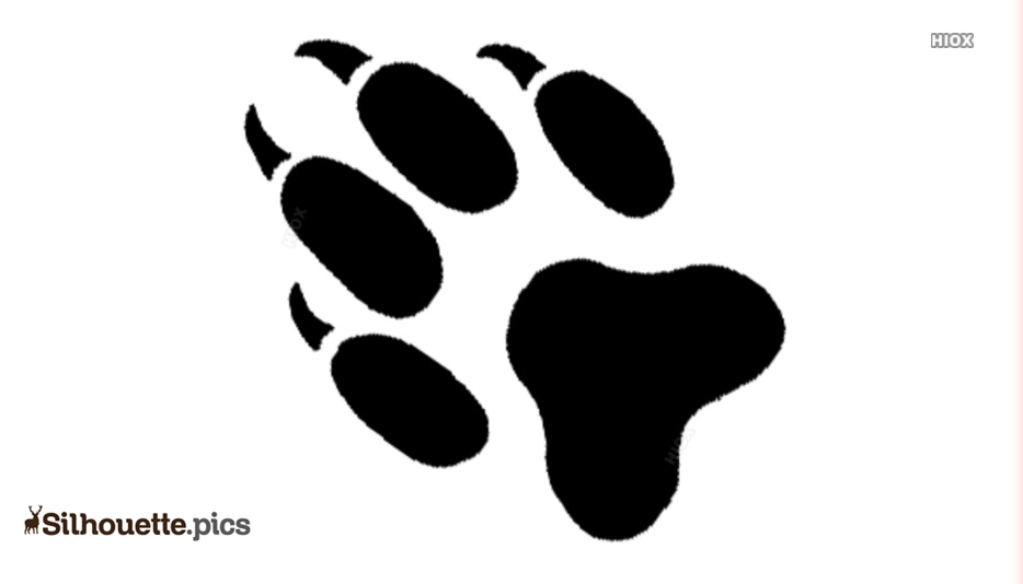 Fox Paw Print Silhouette Png