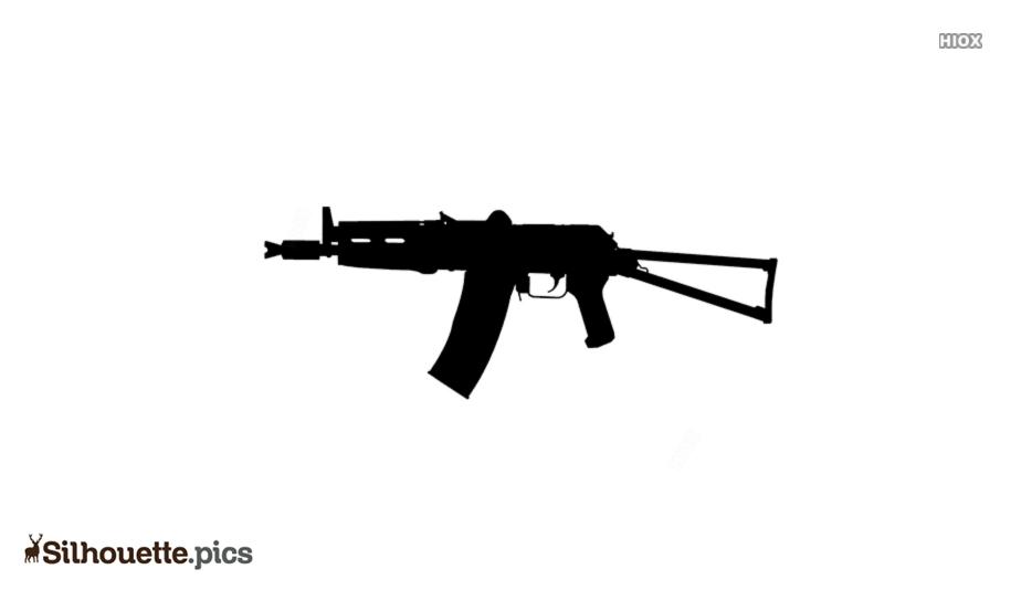Free Ak-74 Silhouette