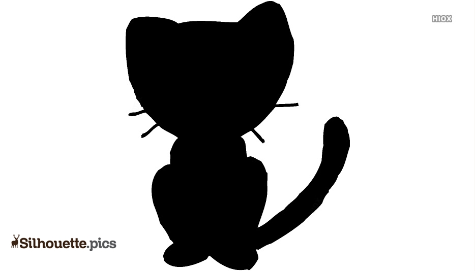 Free Cartoon Cat Silhouette Image