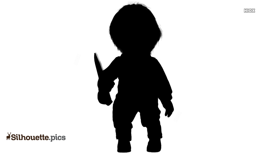 Chucky Clipart Black And White: Chucky Doll Silhouette Images