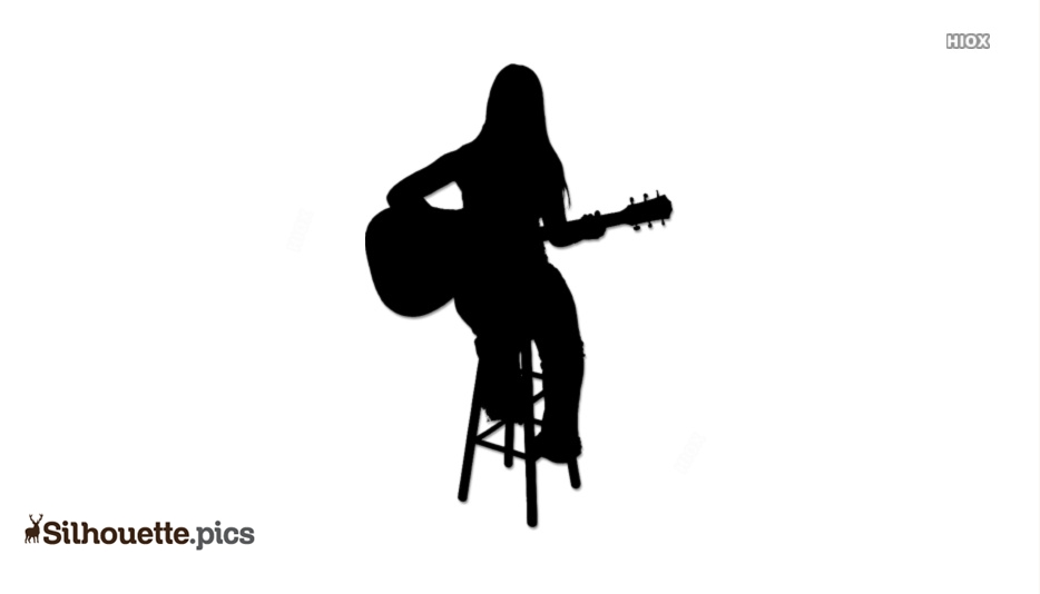 Girl Playing Guitar Silhouette Images