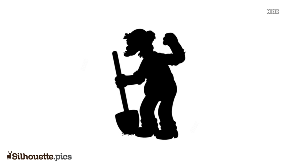 Free Groundskeeper Willie Silhouette