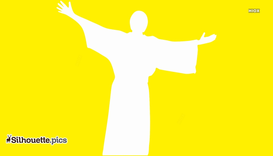 Free Jesus Christ Silhouette Vector On Yellow Background