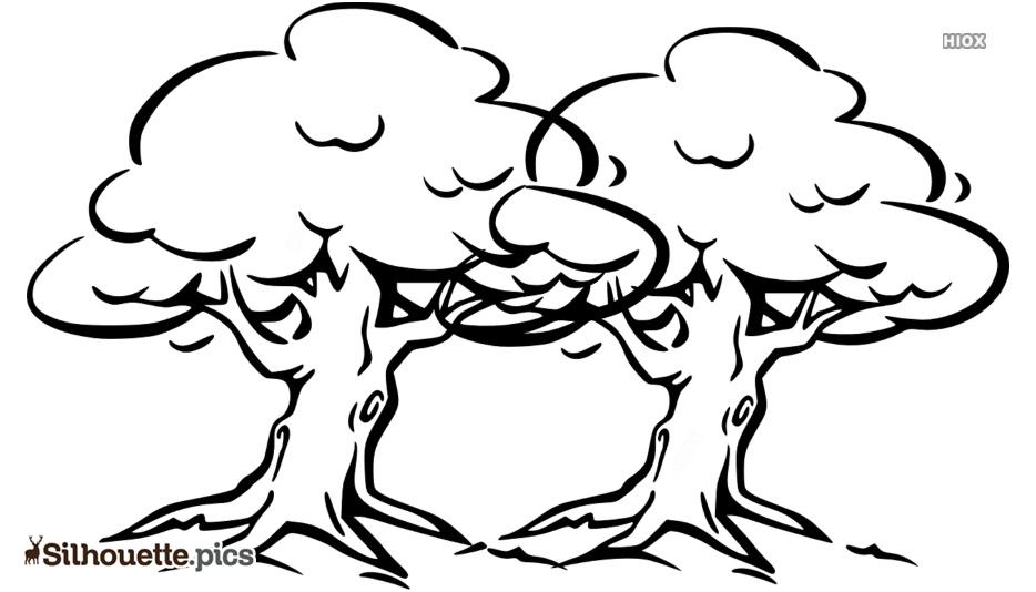 Free Tree Cartoon Sketches Silhouette