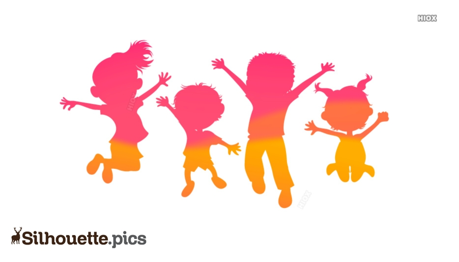 Kids Silhouette Images, Free Vector Art