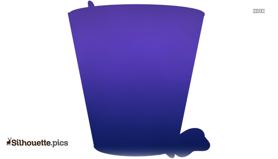 Full Trash Can Clip Art Silhouette