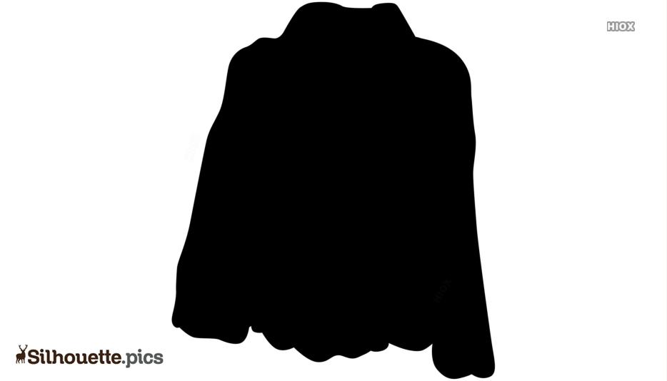 Fur Coat Silhouette Clipart Picture