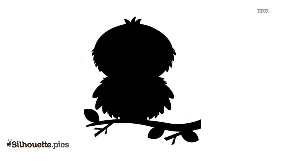 Fuzzy Bird Silhouette