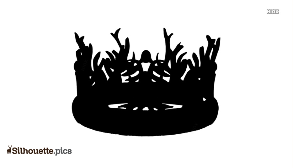 game of thrones crown vector silhouette