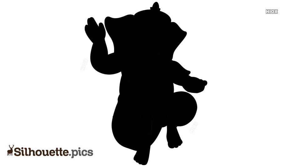 Lord Ganesh Silhouette Images