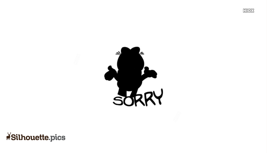 Garfield Sorry Silhouette