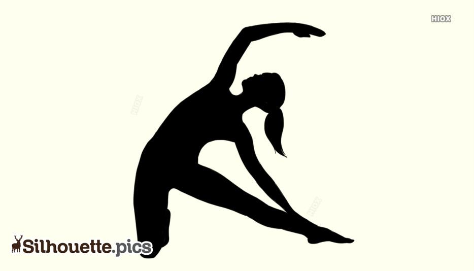 Gate Yoga Pose Silhouettes   Parighasana