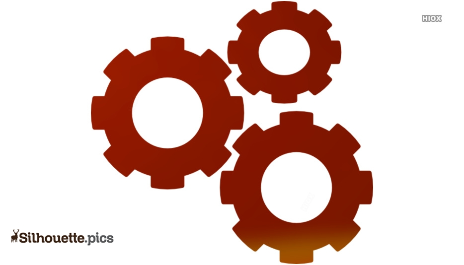 Gears Orange Clip Art
